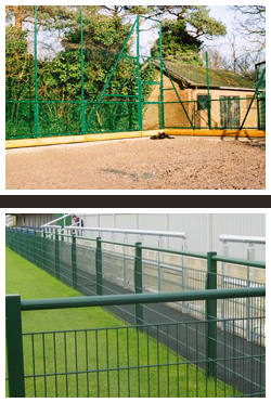 Tennis court fencing - Ball court fencing - Sovereign Sports