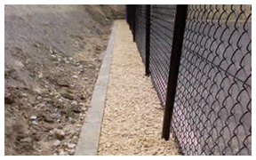 Court construction gravel