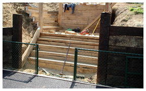 Court construction steps