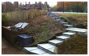 Court construction steps