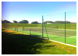 Tennis court construction - court positioning - Sovereign Sports
