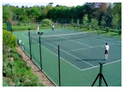 Tennis Court being played on
