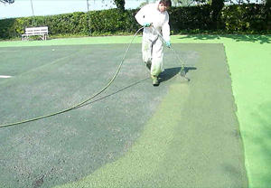 Respray Court Maintenance