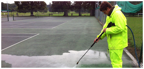 Court Maintenance Jet wash