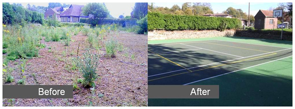 Sovereign Sports Macadam tennis court reconstruction