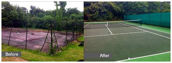 Sovereign Sports Macadam tennis court reconstruction