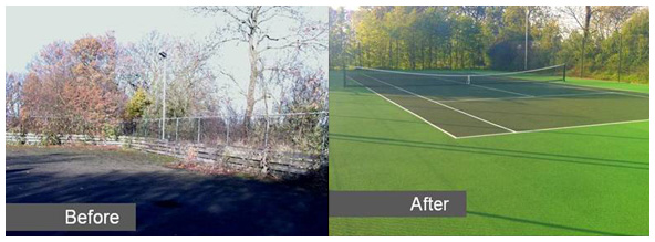 Tennis court resurfacing | Sovereign Sports