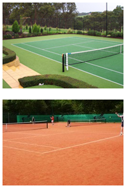 Sovereign Sports tennis court resurfacing synthetic grass