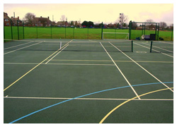 Tennis court and multi-court surfaces