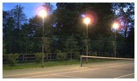 floodlights tennis court