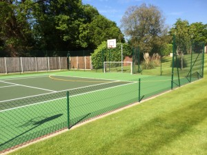 Private tennis fiveaside muga