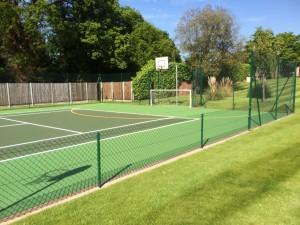 Private tennis fiveaside muga