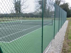 shingle border  tubular fencing