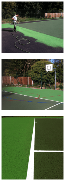 Tennis court respray